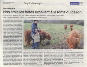 Ouest France Eco-pâturage
